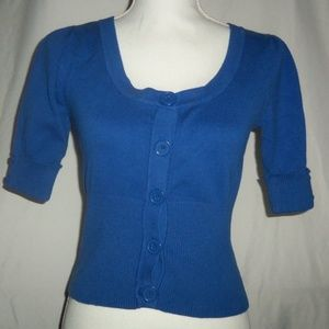 Takeout Short Sleeve Button Down Cardigan Size m